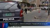 El Agustino: policía murió arrollado al perseguir a hampones