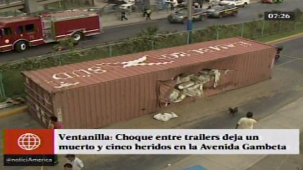 La tragedia ocurrió en la Av. Gambetta, en Ventanilla, Callao. (América TV)