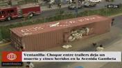 Container cayó en medio de Av. Gambetta y dejó un muerto