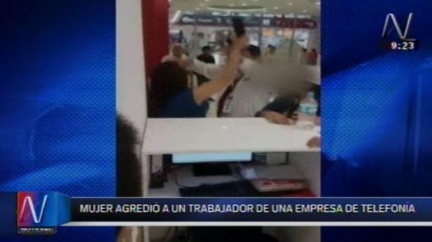 Mujer agredió a trabajadores de Claro e incluso los denunció