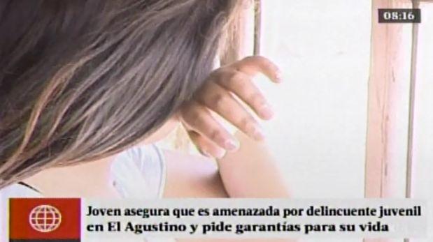 Joven que sufrió dos asaltos en El Agustino pide garantías para su vida y la de su familia. (América TV)