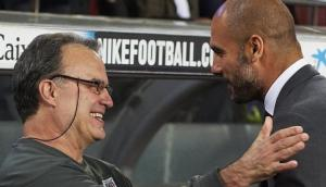 Pep Guardiola calificó a Bielsa como el mejor técnico del mundo