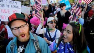"""""""¡No es mi presidente!"""": el grito de miles contra Donald Trump"""