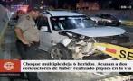 SMP: choque múltiple por piques ilegales en Panamericana Norte