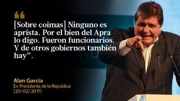Las frases que dejó Alan García antes de volver a España
