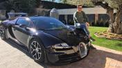 Cristiano Ronaldo presume su costoso coche Bugatti Veyron