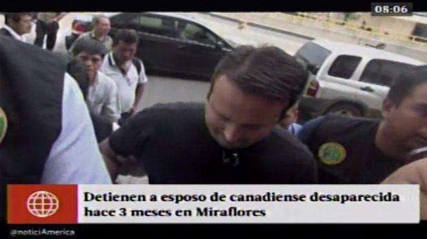 Cristopher Franz Bettocche, pareja de la mujer desaparecida en Miraflores, habría confesado el crimen. (América TV)