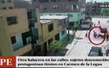 Balacera a plena luz del día causó pánico en Carmen de La Legua