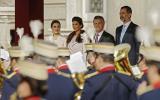 Macri y el rey de España Felipe VI, juntos en una cena de gala