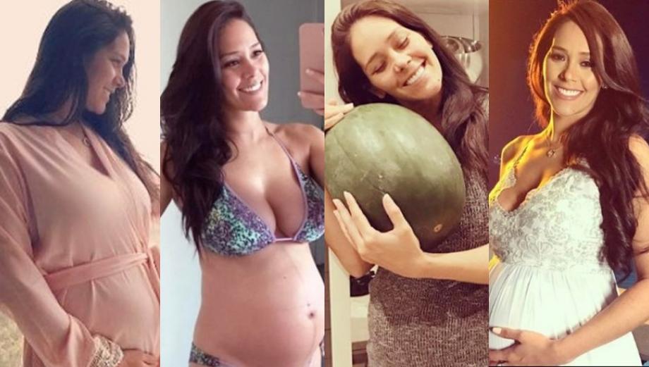 Karen Schwarz mostró su avanzado embarazo en Instagram