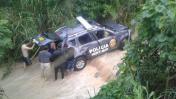 Tarapoto: 3 policías heridos tras caída de patrullero a acequia