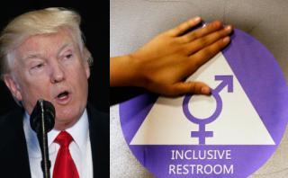 Trump anula norma sobre baños para estudiantes transgénero