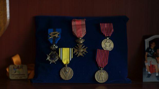 La condecoración de Francia se sumará a otras medallas recibidas por Jorge Sanjinez tras su participación en la Segunda Guerra Mundial. (Juan Ponce)