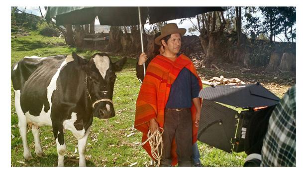 Vaca Alondra para un comercial de Mi Banco.