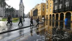 Intensa lluvia de más de cuatro horas sorprendió a Lima