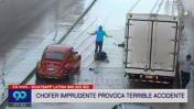 Atropellan a motociclista bajo el puente Tingo María por aniego
