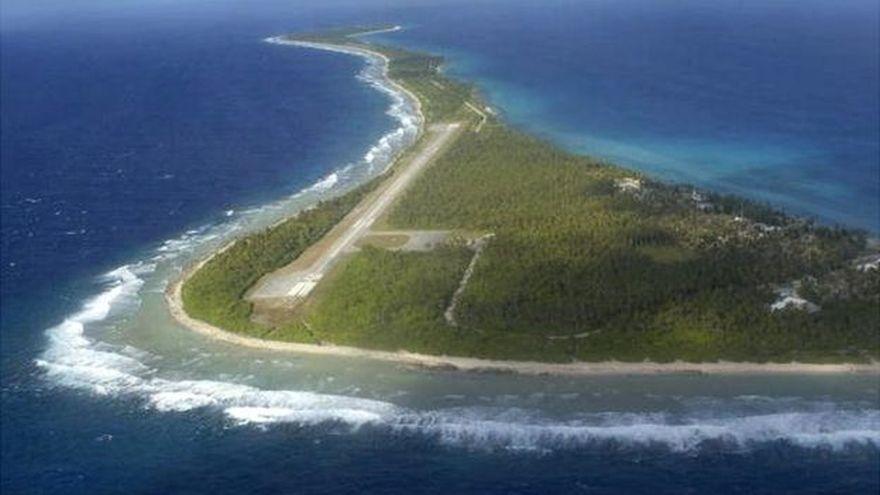 Pista de aterrizaje en las Islas Marshall.