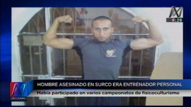 Enzo Hugo Pérez Garay era un entrenador personal y fue acribillado en Surco. Su familia asegura que no tenía enemigos. (Canal N)