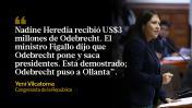 Odebrecht: políticos opinan sobre dinero entregado a Nadine