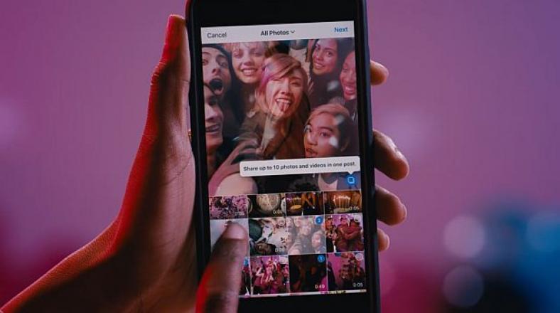 Instagram permite compartir hasta diez fotos y videos a la vez