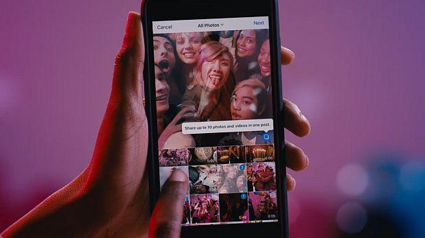 Instagram ya permite publicar 10 fotos en una sola publicación