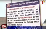 Chorrillos pide a vecinos a mudarse si creen que viven en Surco