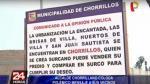 Chorrillos pide a vecinos a mudarse si creen que viven en Surco - Noticias de gomez baca