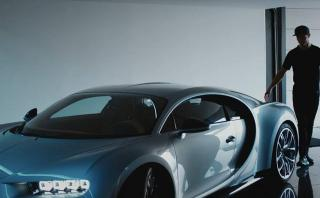 Amo de la velocidad: Cristiano Ronaldo prueba el Bugatti Chiron