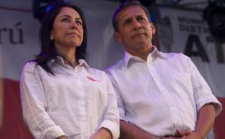 Ollanta Humala y Nadine Heredia salieron esta tarde de su domicilio rumbo a su local de campaña en Jesús María. (Foto archivo Eduardo Cavero)