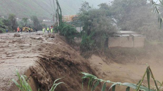 Carretera Central ya fue reabierta tras huaico en Huarochirí