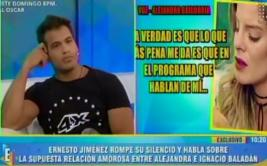 Ernesto Jiménez responde a Alejandra Baigorria [VIDEO]