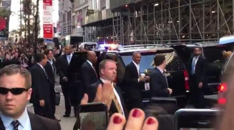 Barack Obama visitó Manhattan y provocó estas reacciones
