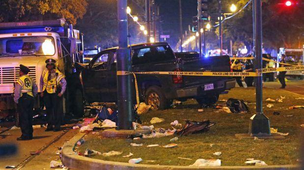 Conductor ebrio atropella a 28 personas en carnaval de Nueva Orleans
