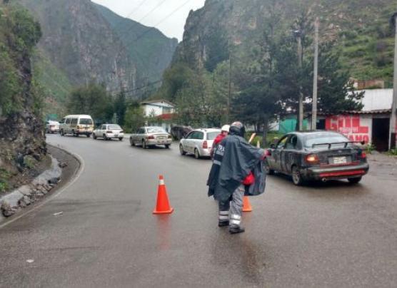 Cierre total de la Carretera Central por lluvias intensas