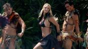 Kika Silva, reina de Viña del Mar, protagonizó sobrio piscinazo