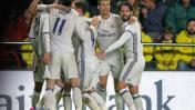 Real Madrid ganó 3-2 a Villareal por la Liga española