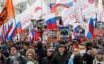 Rusia: Miles marchan por asesinato a opositor de Putin