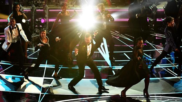 Justin Timberlake durante el número de inicio de los Oscar 2017. (Foto: AFP)