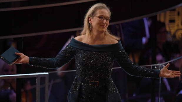 Meryl Streep en los Oscar. (Foto: AFP)