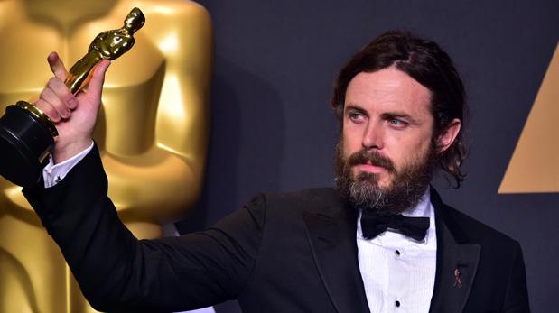Casey Affleck en los Oscar. (Foto: AFP)