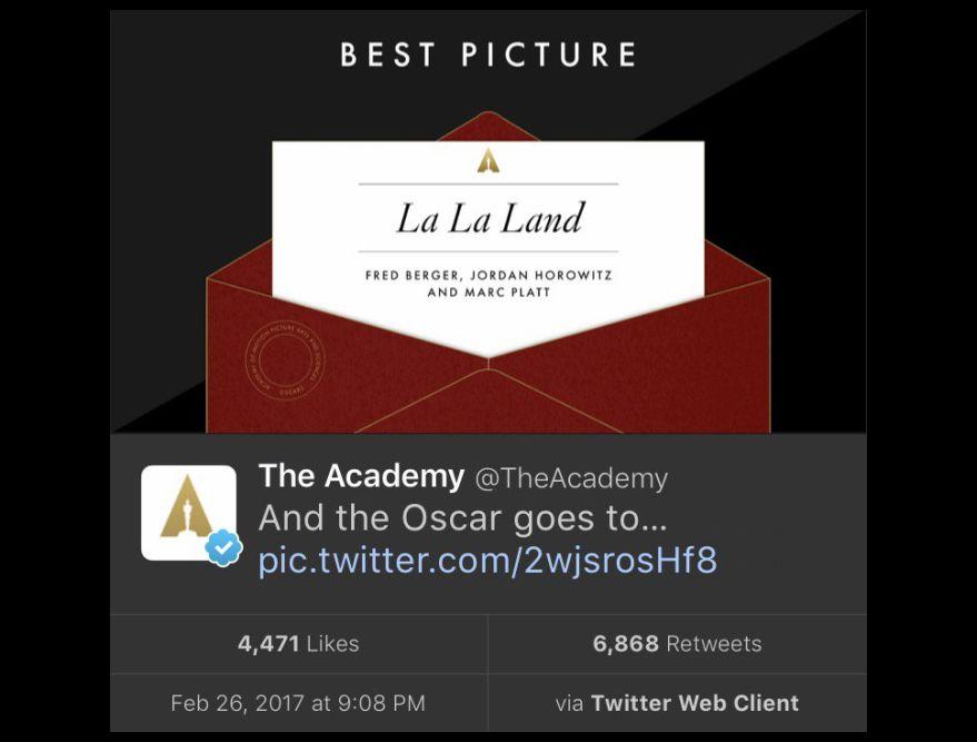 Tweet del Oscar.