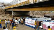 Río Rímac: Lima y SMP se culpan mutuamente por colapso de pista