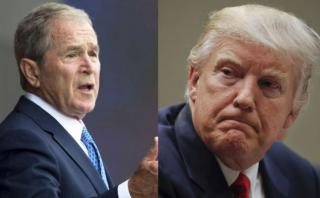 Bush rompe su silencio: Apoya a los migrantes y critica a Trump