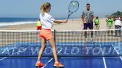 Del Potro promociona con bella Bouchard el ATP de Acapulco