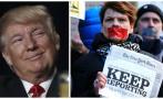 Guerra de Trump contra la prensa, un mal ejemplo para el mundo