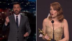 Oscar: Jimmy Kimmel respondió tras suspicacias de Emma Stone