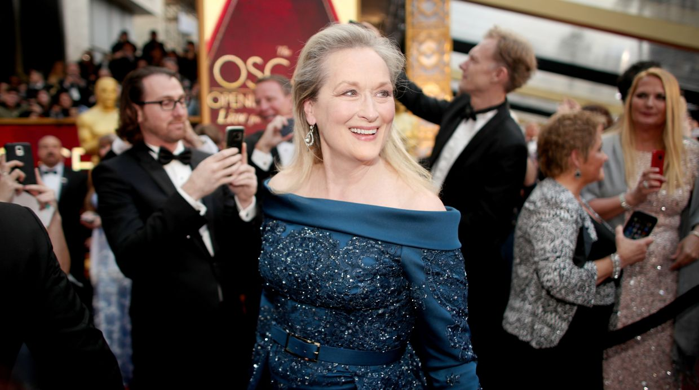 Meryl Streep terminó luciendo un diseño de Elie Saab. (Foto: AFP)