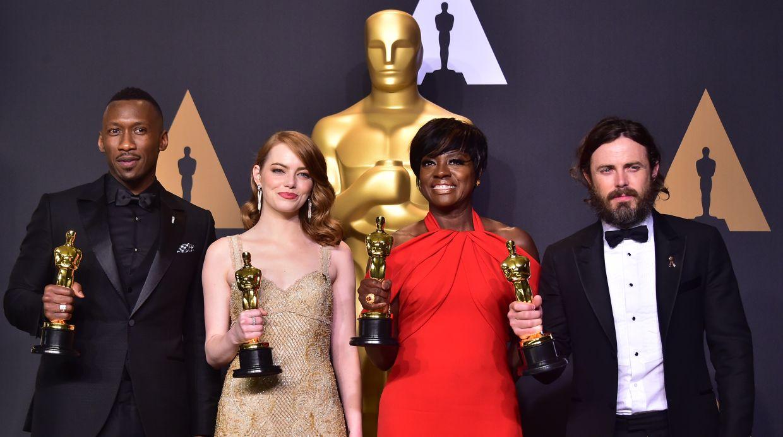 Los ganadores del Oscar. (Foto: AFP)
