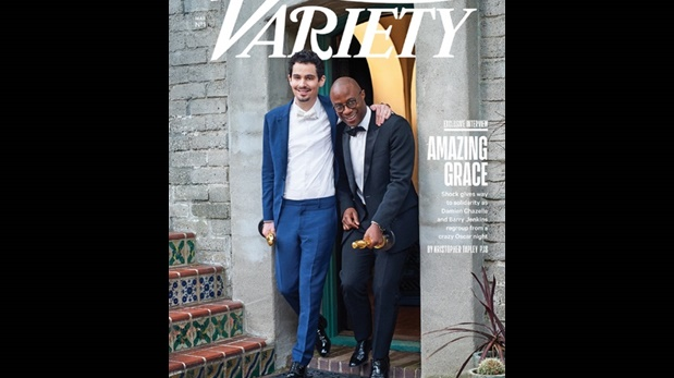 Damien Chazelle y Barry Jenkins posan para la portada de la revista