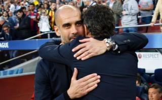 Barcelona: Pep Guardiola lamentó la salida de Luis Enrique